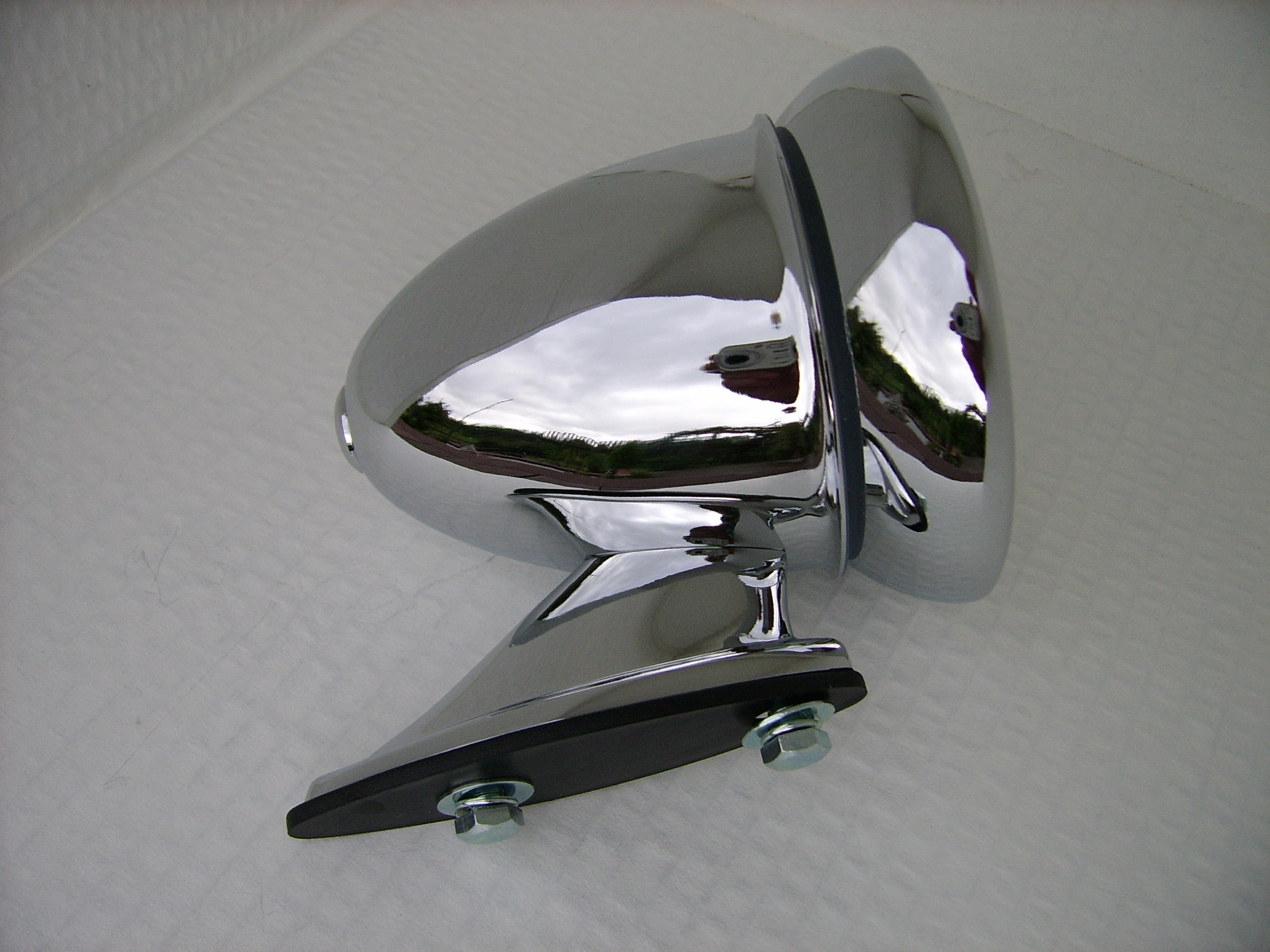 Chrome Racing Car Mirror
